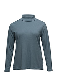 KERNAN - LS TURTLENECK - ANTIQUE BLUE HEATHER