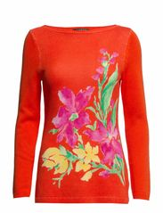 JASPARINO - L/S BOATNECK TUNIC - ORANGE MULTI