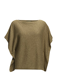 BASILA - METALLIC LINEN PONCHO - ANTIQUE GOLD