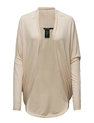 CHOLENA - L/S OPEN FRONT CARDI - NATURAL SAND