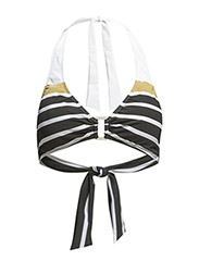 LUREX STRIPE - RING FRONT HALT - BLACK