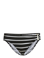 LUREX STRIPE - RING SIDE HIPSTER - BLACK