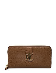 Leather Carrington Zip Wallet - FIELD BROWN