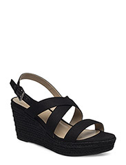 Katerina Wedge Espadrille - BLACK