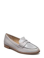 Barrett Patent Leather Loafer - CHALK GREY