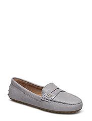 Belen Leather Loafer - CHALK GREY