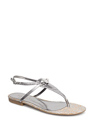 Anita Leather Sandal - NEW SILVER