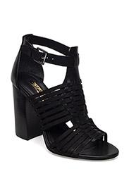 Harietta Leather Sandal - BLACK