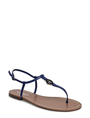 Aimon Croc-Embossed Sandal - SPECTATOR BLUE