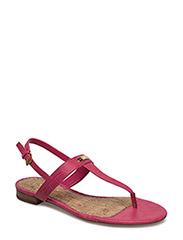 Valla Croc-Embossed Sandal - SPRING PINK
