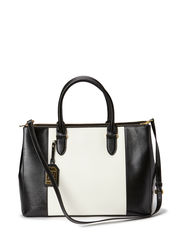 DOUBLE ZIPPER SATCHEL - BLACK/VANILLA