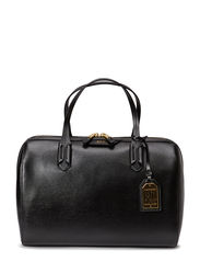LARGE BARREL SATCHEL - BLACK/BLACK