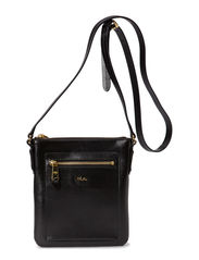 MEDIUM FLAT CROSSBODY - BLACK/BLACK