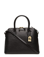 DOME SATCHEL - BLACK/BLACK(GOL