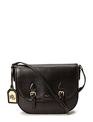 Tate Leather Messenger Bag - BLACK/BLACK(GOL
