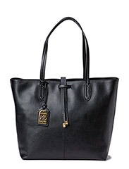 UNLINED TOTE - BLACK/BLACK