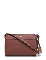 Faux-Leather Cross-Body Bag - AUBURN/SUNSET
