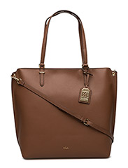 Medium Faux-Leather Abby Tote - BOURBON