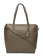 Medium Faux-Leather Abby Tote - SAGE