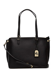Claire Faux-Leather Shopper - BLACK