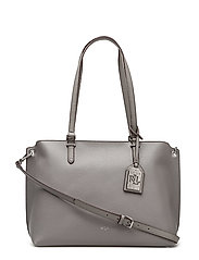 Claire Faux-Leather Shopper - LIGHT GREY