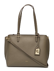 Claire Faux-Leather Shopper - SAGE