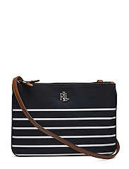 Nylon Tara Crossbody Bag - BLACK/WHITE STRIP