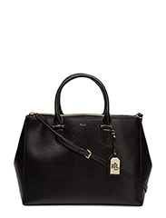 Newbury Double-Zip Satchel - BLACK