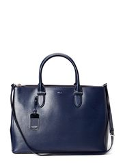 DOUBLE ZIPPER SATCHEL - NAVY