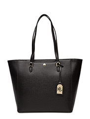 Saffiano Leather Halee Tote - BLACK