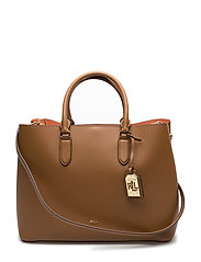 Leather Marcy Tote - FIELD BROWN/MON
