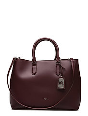 Leather Marcy Tote - PORT/FALCON