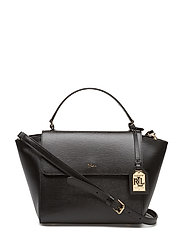 Leather Barclay Crossbody Bag - BLACK