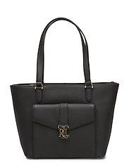 Evonne Leather Shopper - BLACK