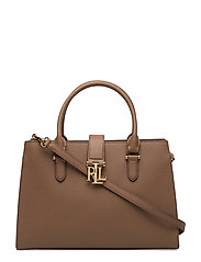 Leather Brigitte II Satchel - FIELD BROWN