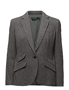 Single-Button Tweed Blazer - STERLING GRY HTR/
