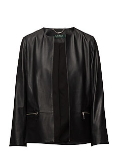 REFINED LEATHER JACKET - POLO BLACK
