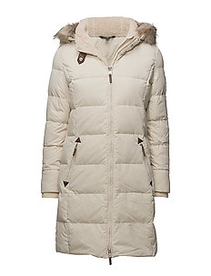Quilted Down Jacket - MODA CREAM