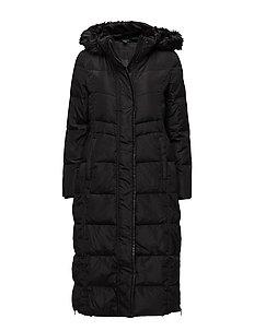 Hooded Down Coat - BLACK