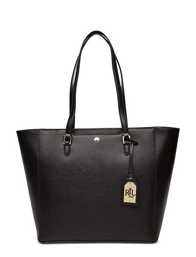 Ralph Lauren Käsilaukku : Saffiano leather halee tote black ? lauren ralph