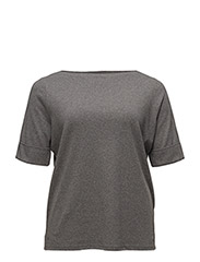 Stretch Cotton Boatneck Top - CITYSCAPE GREY HEATHER