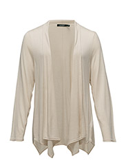 MODAL CASH-PLUS SLK-L/S OPEN FRONT - NATURAL