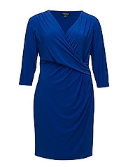 Ruched Jersey Dress - GALLERY BLUE