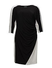 Two-Tone Jersey Dress - BLACK/LAUREN WHIT