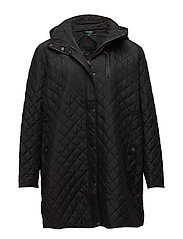 MATTE NYLON-SYNTHETIC COAT - BLACK