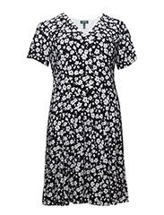 EDNES - S/S VNECK DRESS (EU-EX - NAVY/WHITE