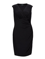 ADARA - CAP SLEEVE DRESS - BLACK