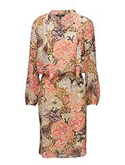 SHATILLO - L/S PEASANT DRESS - MULTI