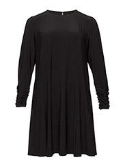 CHERRY - LONG SLEEVE DRESS - BLACK