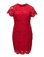 BLONDIE - SHORT SLEEVE DRESS - RED